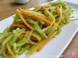 Laitue asperge sautee avec jeunes carottes chao wosun 160x120